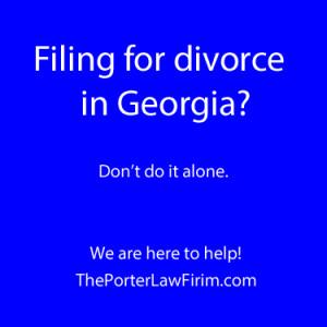 file for divorce in georgia